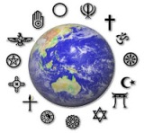 faith symbols around globe