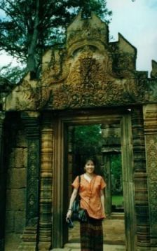 Marites in Cambodian temple (1)