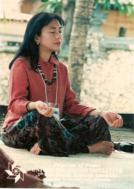 Meditating in Bali 2001