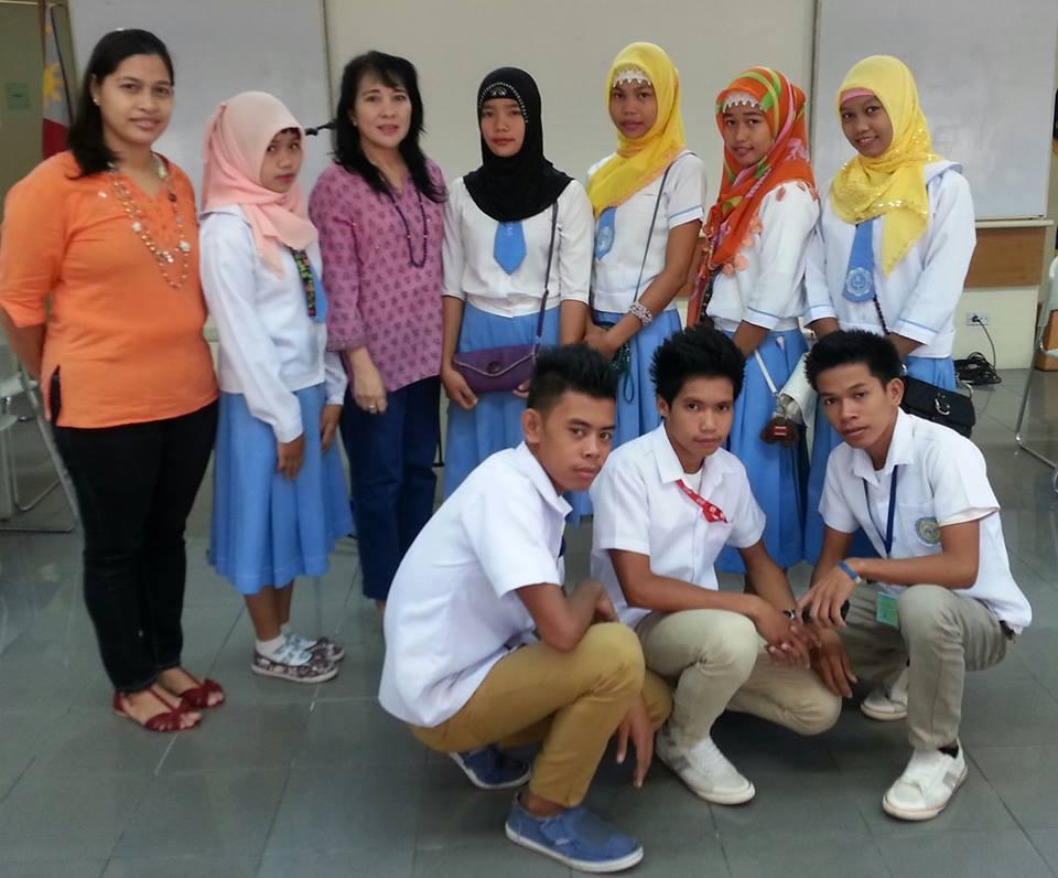 Marites with Rajah Mudah students at Miraiam CPE