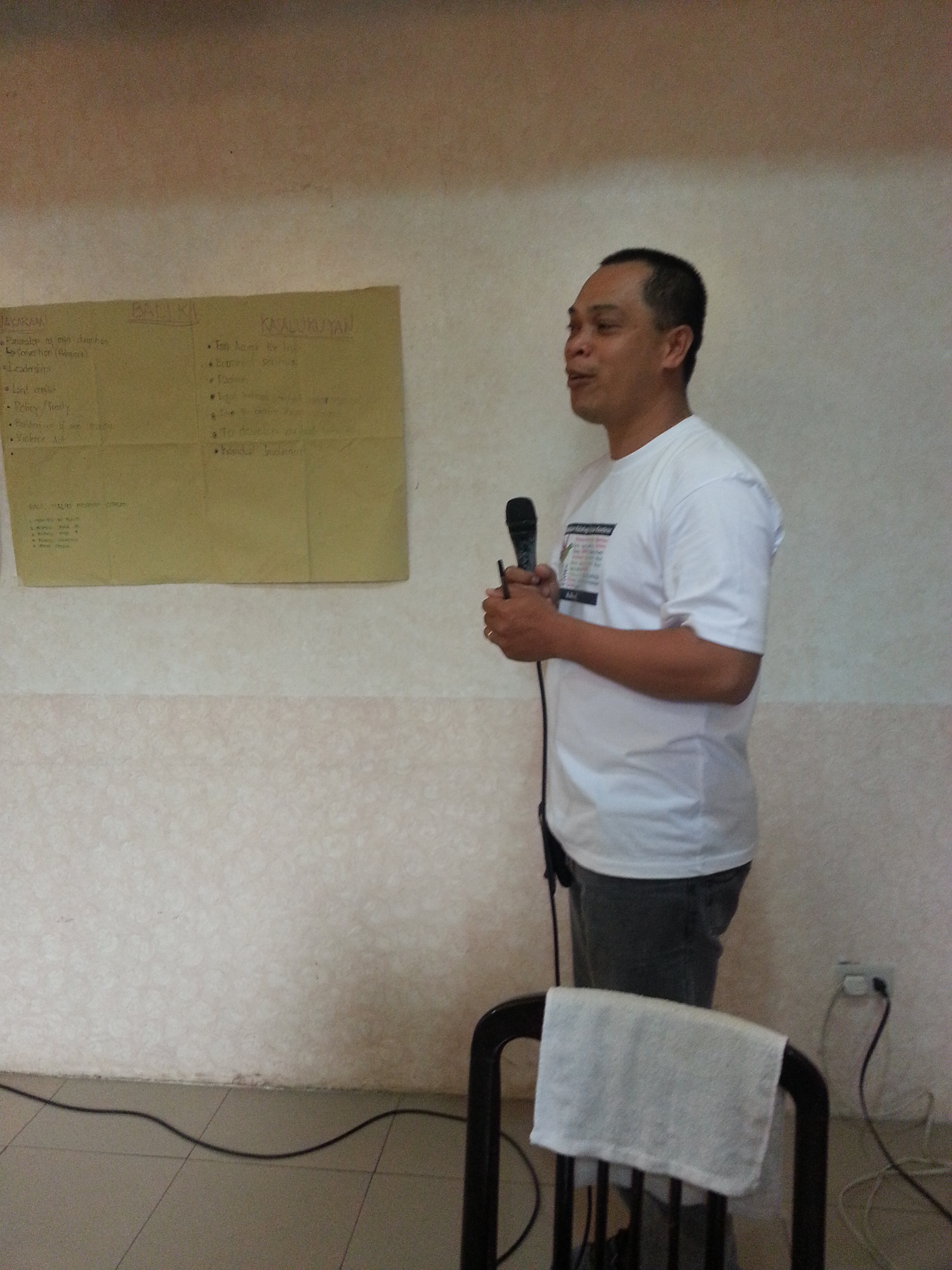 Mon Plasabas, in-charge of Balay Rehabilitation in North Cotabato