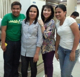 With Balay staff-- Nash, Bai, and Gigi