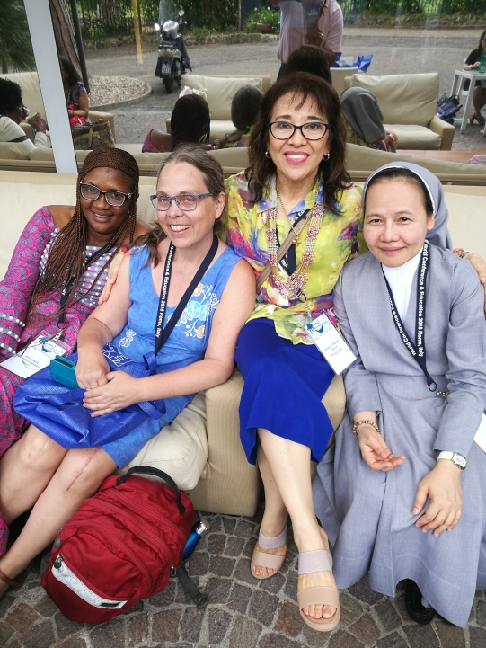 With Sr. Merceditas Ang, Barbara (Canada), and Monica (Nigeria)
