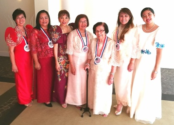 With Estela Matriano, EdD (WCCI Executive Director), Carole Caparros, MeD (Executive Assistant) and volunteers